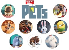 Значки Тайная жизнь домашних животных