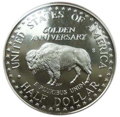 50 центов 1/2 доллара 1991 Национальный мемориал Рашмор 50 лет Гора. США. PROOF