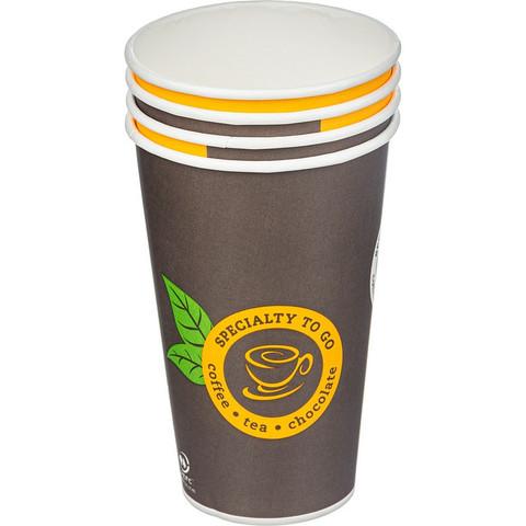 Стакан одноразовый Coffee-to-Go бумажный разноцветный 400 мл 50 штук в упаковке