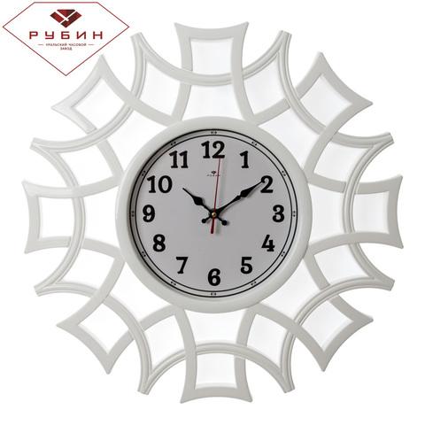 4945-100 (5) Часы настенные круг ажурный d=48,5см, корпус белый