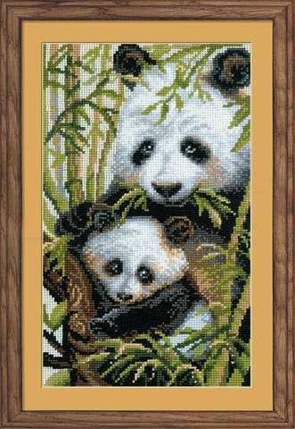 Набор для вышивания крестом «Панда с детенышем» (1159)