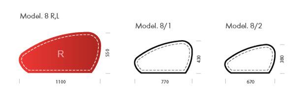 Бювар - накладка на стол, кожа натуральная, Модель 8.
