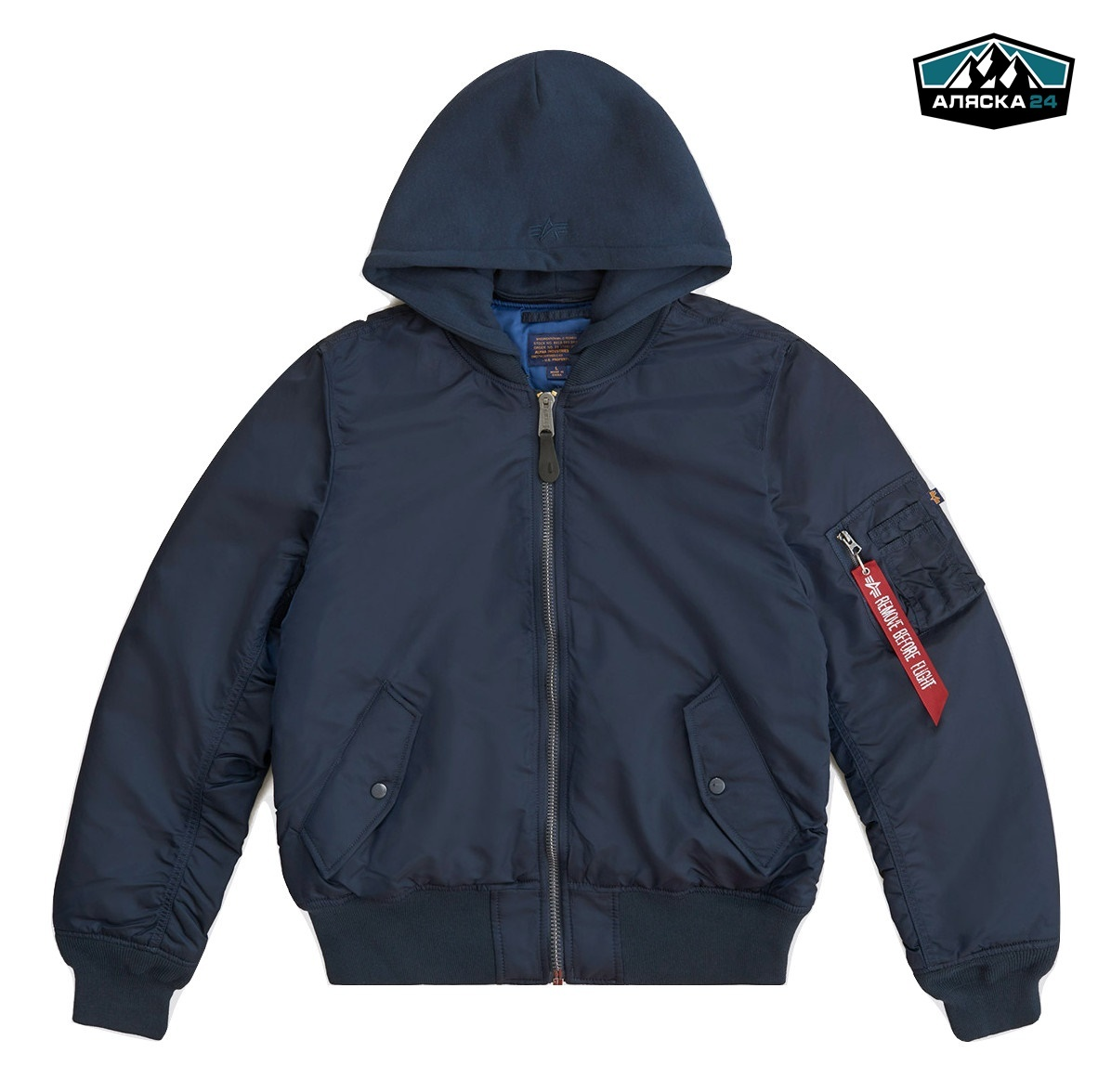 Бомбер Alpha Industries MA-1 Natus Replica Blue