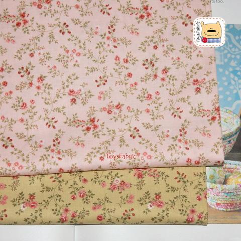 Набор тканей для пэчворка 51789 Нежные цветы (45х35см/2шт.)