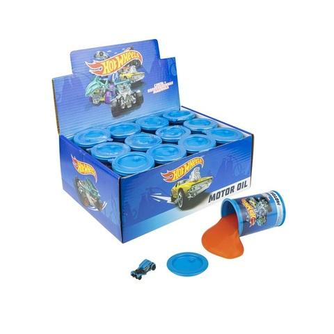 Hot Wheels Слизь с игрушкой и наклейкой 130 г, 1кор*2бл*12 шт.