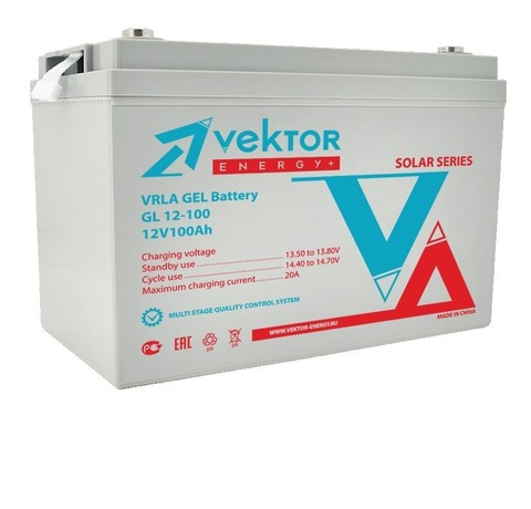 Аккумулятор VEKTOR ENERGY GL 12-134