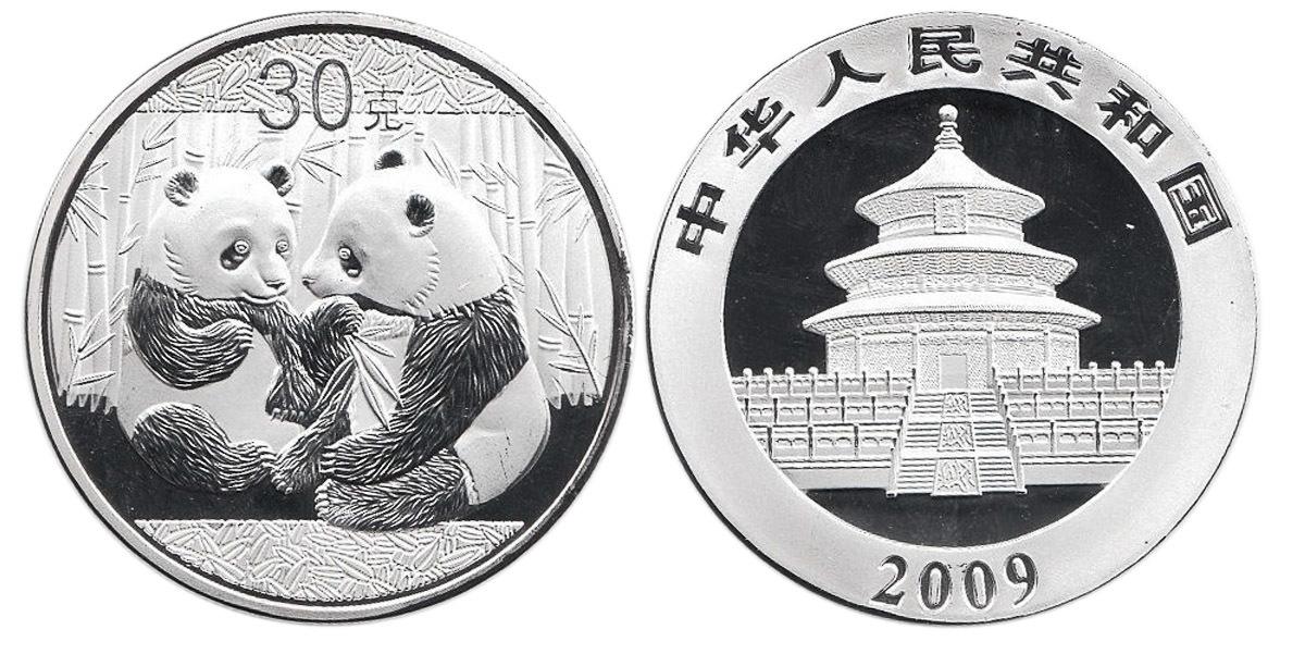 Жетон Китайская панда. Китай. 2009 год. PROOF