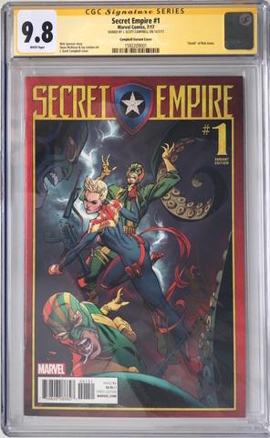 CGC Secret Empire #1. Автограф Скотт Кэмпбелл. Состояние 9,8