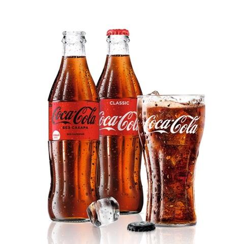 Кока-кола в стекле 0.33л