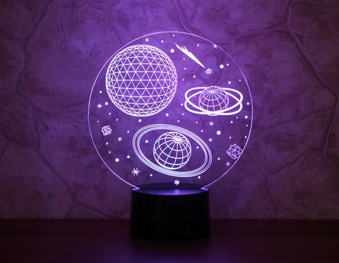 3D лампа Космос