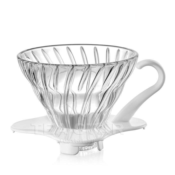 Кофейные аксессуары Воронка Hario 60, VDG-01w, стеклянная белая Hario_V60-VDG-01w-1.jpg