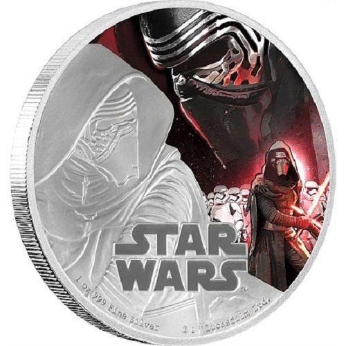 2 доллара 2016 Звездные войны. Кайло Рен. Пробуждение силы.  О. Ниуэ Серебро