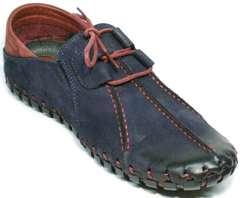 Мокасины мужские со шнурками Luciano Bellini 23406-00 LNBN.