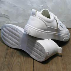 Кожаные кроссовки туфли кожаные женские El Passo 820 All White.