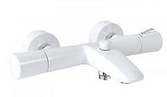 Смеситель для ванны с термостатом Kludi Zenta 351019138, белый/хром