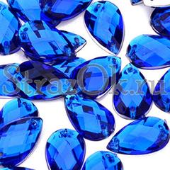 Набор страз купить пришивные акриловые Sapphire синие Drope