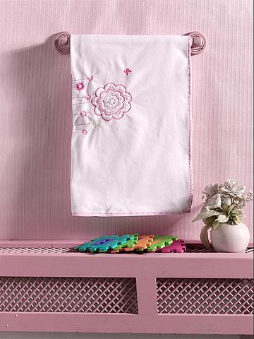 "Плед флисовый ""Sweet Flowers"", 100% полиэстер, размер 80*120 см (стандарт)"