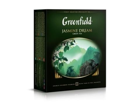 Чай зеленый Гринфилд Jasmine Dream в пакетиках (100 шт)