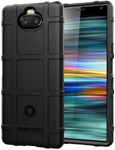 Чехол на Sony Xperia 10 цвет Black (черный), серия Armor от Caseport