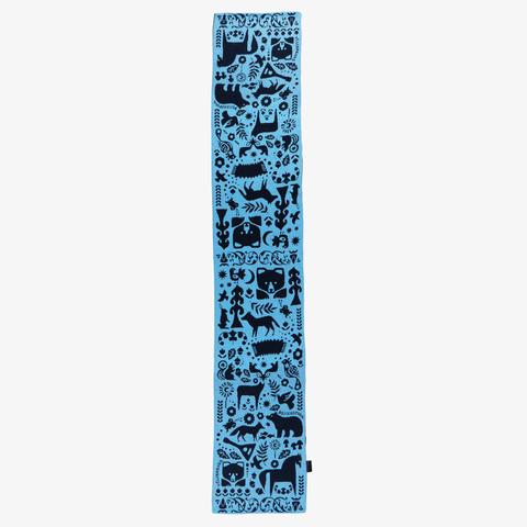 Зимний Вечер – синие тона № 3.2 (Без бахромы)