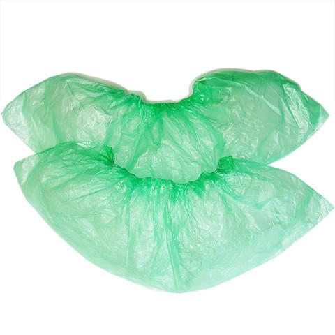 Бахилы одноразовые полиэтиленовые Стандарт 2,8г зеленый (50 пар в упаковке)