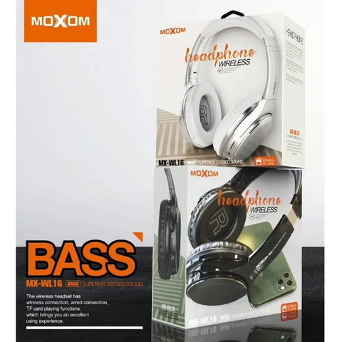 Наушники Bluetooth Moxom MX-WL16, BT 5.0, microSD, black