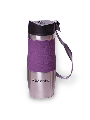 Термокружка Kamille KM-2051 0.48 л фиолетовый