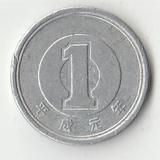 K13067 1989 Япония 1 йена