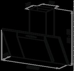Вытяжка Maunfeld Gloria 60 нержавейка черное - схема