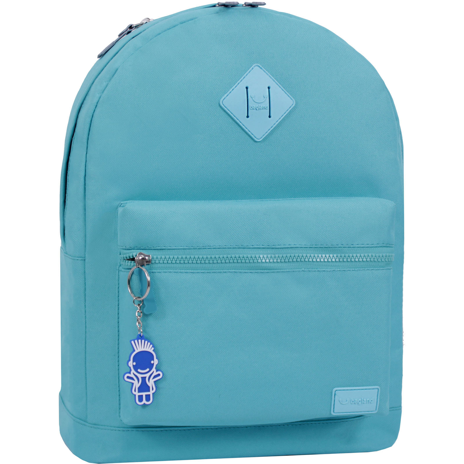 Молодежные рюкзаки Рюкзак Bagland Hood W/R 17 л. бирюза 464 (0054466) IMG_6417__суб.464_.JPG