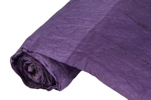Бумага жатая эколюкс 70см х 5м темно-фиолетовая 21