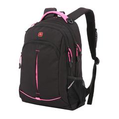 Рюкзак Swissgear черный/фукси, 32x15x46 см, 22 л