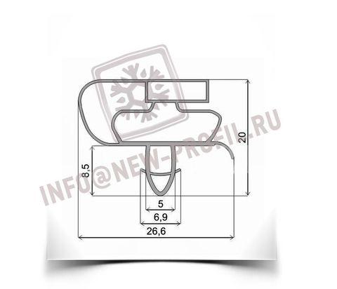 Уплотнитель 97*46,5 см по пазу для холодильника  Electrolux ERD22098W (холодильная камера) Профиль 021(АНАЛОГ)