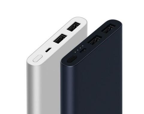 Xiaomi / Внешний аккумулятор power bank 2 10000 mAh 2USB | серебро