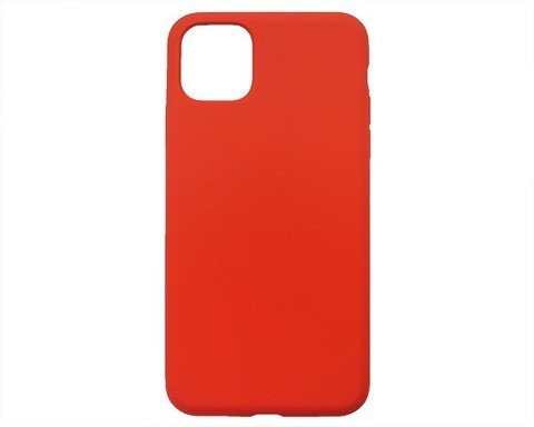 Чехол для iPhone 11 Pro Софт тач мягкий эффект   микрофибра коралл