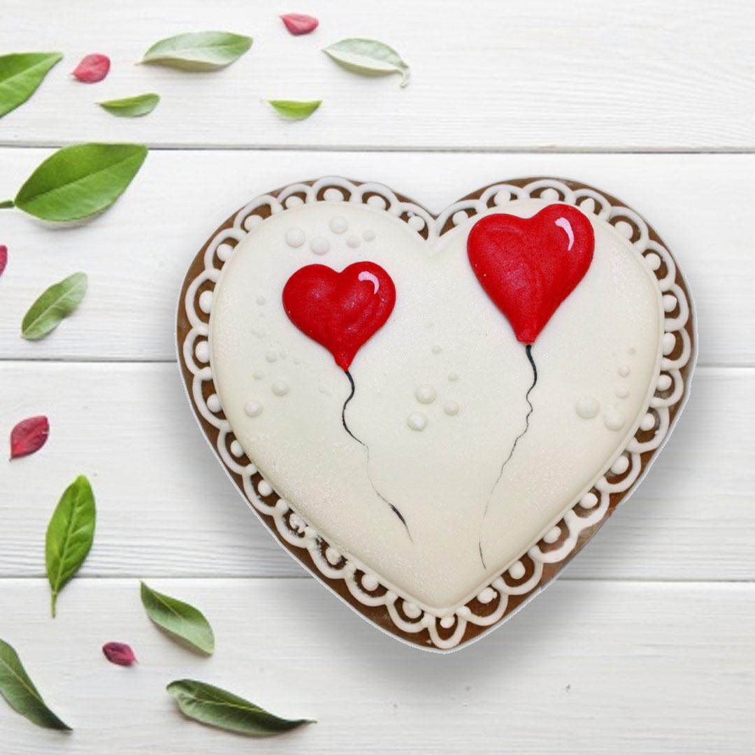 Фотография Пряник «Сердце №9» / 50 гр купить в магазине Афлора
