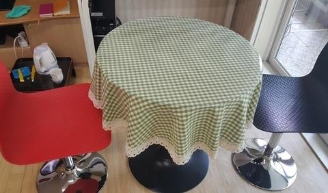 Скатерть круглая на журнальный стол 50 см толщина 2 мм