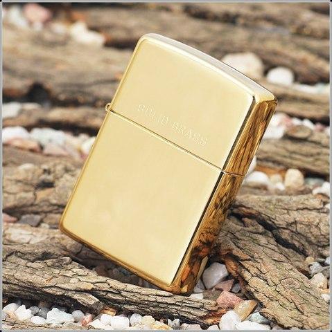 Зажигалка ZIPPO 254 High Polish Brass золотистая