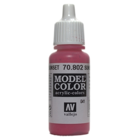 Model Color Sunset Red 17 ml.