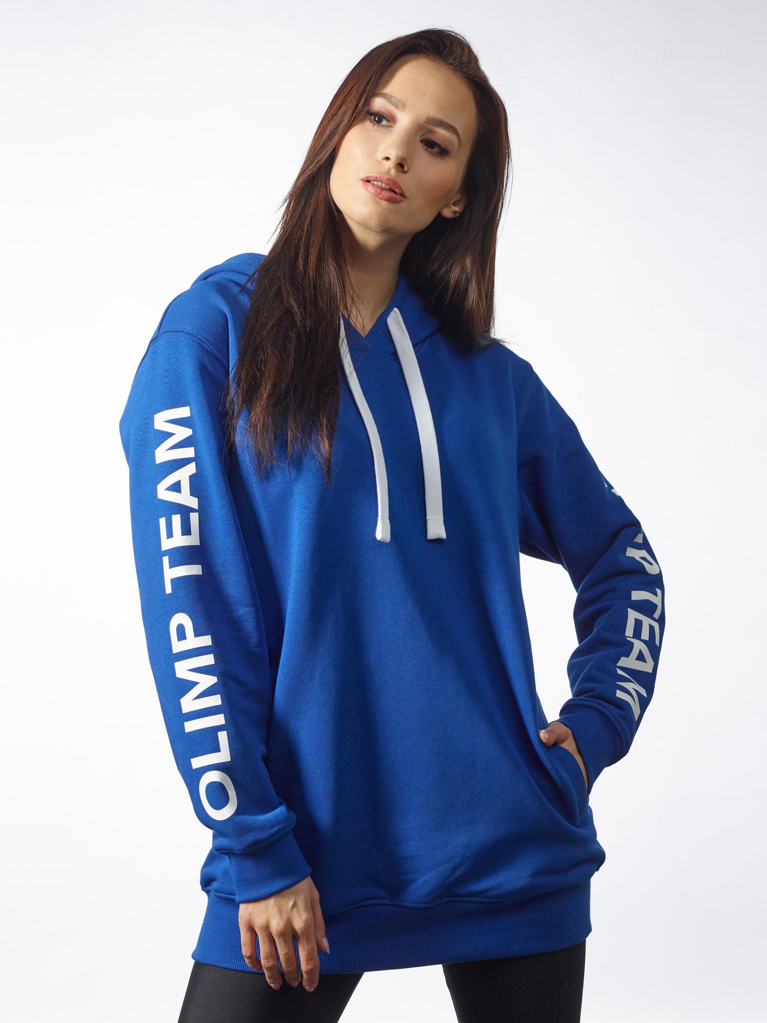 Женская толстовка с капюшоном  OLIMP OVERSIZE BLUE