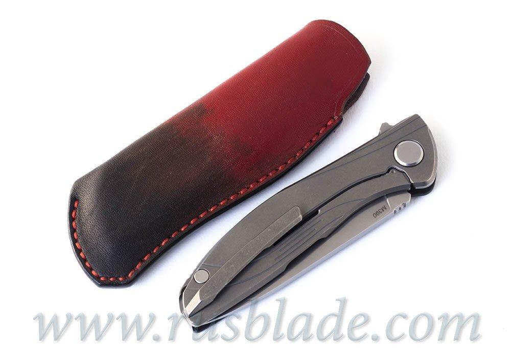 Shirogorov HatiOn leather sheath Red - фотография
