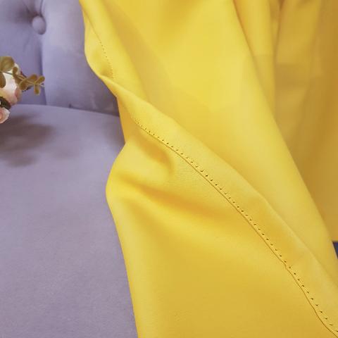 Шторы блэкаут на люверсах желтые. арт. SHL-BL13