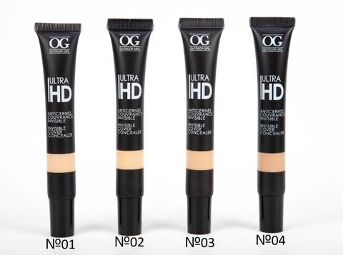 OG-FS5328 Консилер для лица жидкий тон 02 бежевый, ULTRA HD INVISIBLE ,в тубе