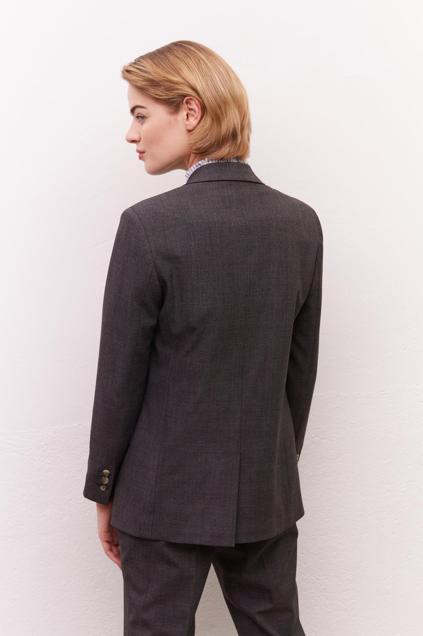 NORA - Двубортный пиджак в клетку
