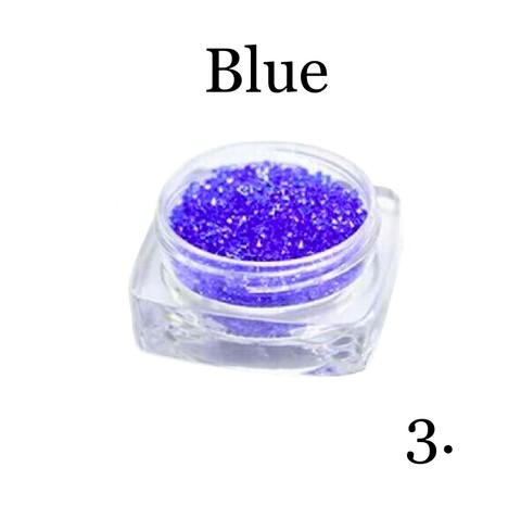 Хрустальная крошка(мелкая) синяя 3 купить за 350руб