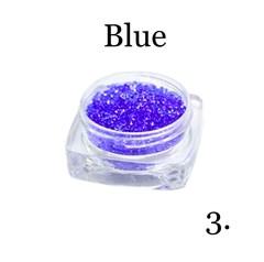 Хрустальная крошка(мелкая) синяя 3