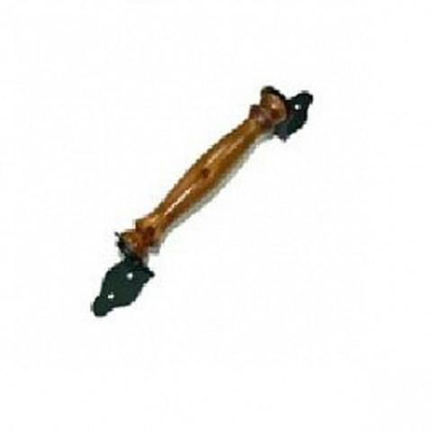 Ручка-скоба декоративная мод.2 (темное дерево) медь антик /Балаково/