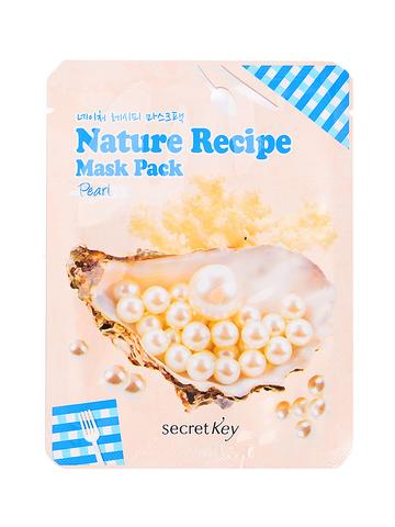 Маска тканевая с жемчугом Secret Key Nature Recipe Mask Pack Pearl
