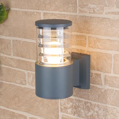 Уличный настенный светильник 1408 TECHNO серый
