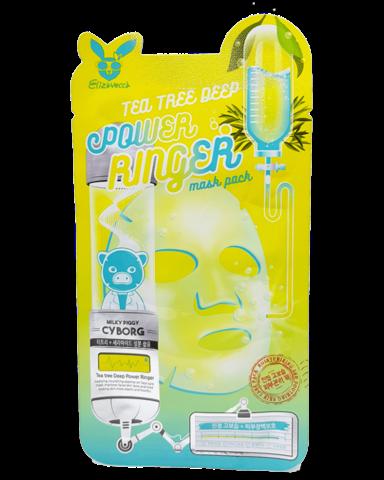 Тканевая маска Elizavecca Tea Tree Deep Power Ringer Mask 1шт